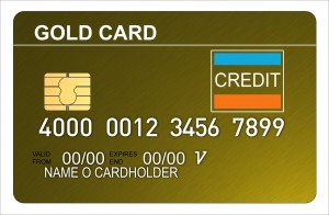 Gold Credit Card Metallic